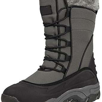Mountain Warehouse Park Womens Waterproof Fleece Inner Snow Boots Grey 8 UK