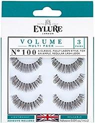 Eylure Volume Multi Pack Of 3 Eyelashes No 100