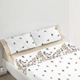 Burrito Blanco - Juego de sábanas 440 para cama 150x190/200 cm, color beige
