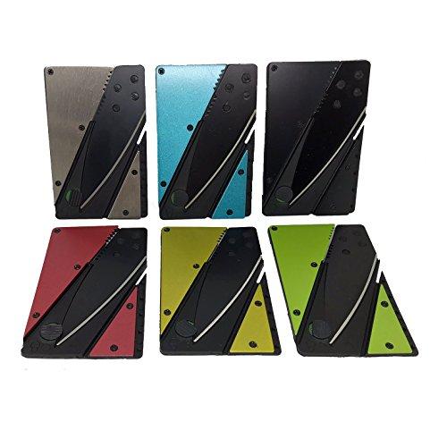 NF-Gadgets Kreditkartenmesser in 6 Farben (Rot)