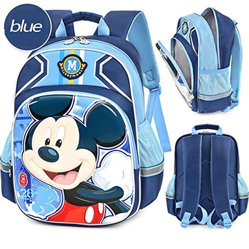 DWYRD Kinderrucksack Spiderman Mickey Mouse Relief 3D-Druck Schultasche Boy Primary School Book Bag B-OneSize