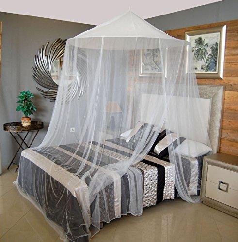 Zanzariera per il letto king bangla bianco 150 x 250 x 1.200 cm.
