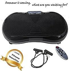 Befied Trainingsgerät Vibrationsplatte Ganzkörper Vibrationstrainer Crazy Vibrations Massage Zuhause Büro Gym EU-Steck Tragend 150kg