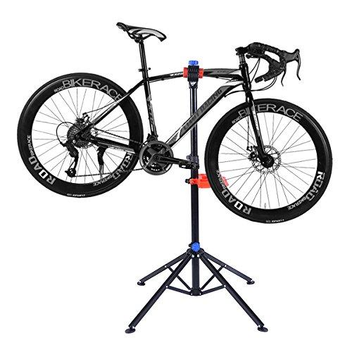 COSTWAY Fahrradmontageständer Fahrrad Montageständer Reparaturständer Fahrradständer mit Werkzeugablage höhenverstellbar -