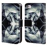 Offizielle PLdesign Schwarz Weisse Galaxie Abstraktes Design Brieftasche Handyhülle aus Leder für iPhone 4 / iPhone 4S