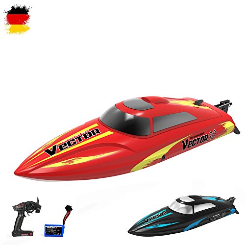 2.4GHz ferngesteuertes RC Speedboot vollproportionale Steuerung,bis zu 30km/h,Komplett-Set RTR (Motor Kleines Mit Boot)
