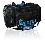 Boxeur Des Rues Fight Activewear Borsa per la Palestra con Tracolla Regolabile, Nero, Taglia Unica