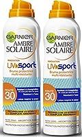 Garnier - Ambre Solaire - UV Sport - Brume FPS 30 - Protection solaire indice moyen - 200 ml - Lot de 2