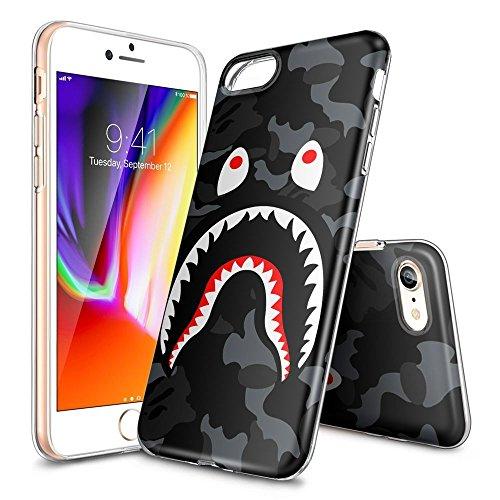 one 6S Plus und iPhone 6 Plus Tasche Schutzhülle Case Cover Bumper und Anti-Scratch Löschen Back Hülle für iPhone 6S Plus/6 Plus (HD Klar LAFJAFJJD00147) (Shark-cut-out)