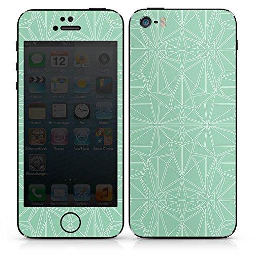 Apple iPhone SE Case Skin Sticker aus Vinyl-Folie Aufkleber Muster Mint Streifen DesignSkins® glänzend