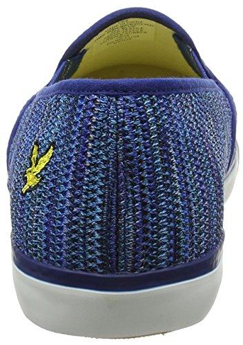 Lyle & Scott Eden Space Dye Knit, Sneaker a Collo Basso Uomo Blue (Blue)