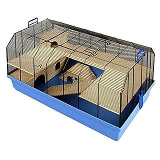 Qualität Small Pet Käfig–inklusive Massivholz Zubehör geeignet für Hamster, Mäuse, Rennmäuse und andere kleine Haustiere