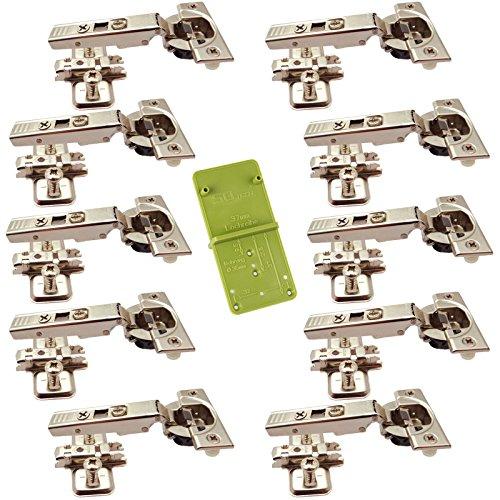 10 x Blum Blumotion Topfband CLIP Top 71B3550 Eckanschlag 110° Automatikscharnier mit Cliptechnik, Schließautomatik und Dämpfer inkl. Ankörnschablone EasyGreen