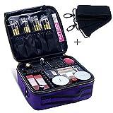 Maletín de maquillaje con correa para el hombro, bolsa de cosméticos, organizador de cosméticos, cajas de maquillaje con compartimentos