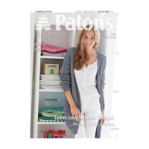 patons| Muster: Damen Sommer Lange Strickjacke | pbn4082 (Muster Lange Strickjacke Stricken)
