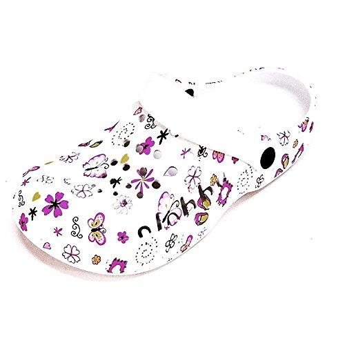 Damen Clogs Hausschuhe Badeschuhe (112B) Pantoffeln Pantoletten Schuhe Neu Größe 42 EU, Farbe Pink