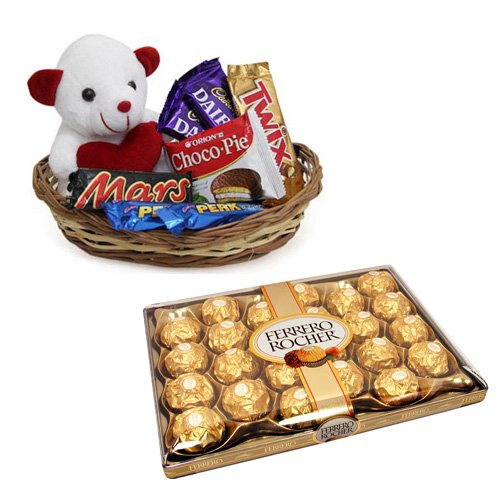 Chocolate Gift Basket With Ferrero Rocher