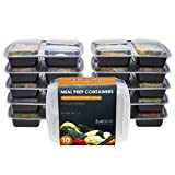 [10er Pack] 3-Fach Meal Prep Container Set Mikrowellenfest Lock Dosen