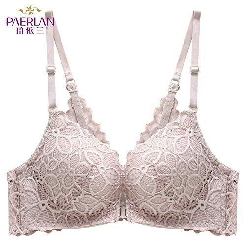 Frontschnalle Spitze Seite kein Stahlring Neue kleine Brust versammelten Sich Bequeme Unterwäsche weibliche Schönheit zurück BH Bra 色 80A -