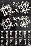 Blumen Tattoo Schablone zur einmaligen Verwendung S325 für Körper für Henna Glitter Airbrush Tattoo geeignet - viele Motive