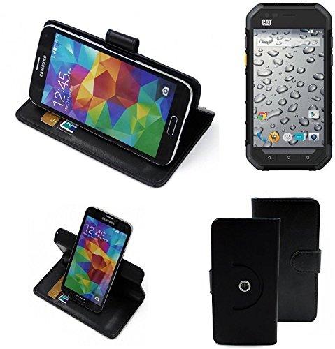 360 ° della copertura della cassa Smartphone Caterpillar Cat S30, nero | Cassa del raccoglitore stand funzione Bookstyle. Migliore prezzo, migliore prestazione - K-S-Trade