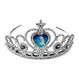 AZi Crown Tiara and Wand Set - Silver wi...