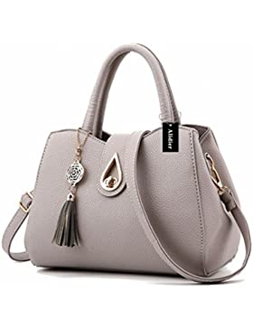 Alidier Neue Marke und Qualität 2016 Neue Damen Shopper Ledertaschen Handtaschen Umhängetasche Schultertasche...