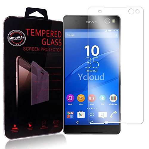 Ycloud Panzerglas Folie Schutzfolie Bildschirmschutzfolie für Sony Xperia C5 Ultra (6 Zoll) screen protector mit Härtegrad 9H, 0,26mm Ultra-Dünn, Abger&ete Kanten