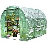 VonHaus 3m x 2m Walk-In Polytunnel Greenhouse with Steel Frame
