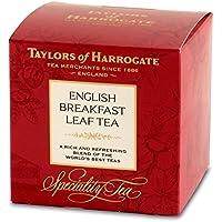Taylors of Harrogate English Breakfast Té de hoja Una mezcla rica y refrescante de los mejores tés del mundo / Desayuno inglés Hojas sueltas Sueltos ricos y refrescantes Mezcla de los mejores tés del mundo de la India y África - 1 x 125 gramos