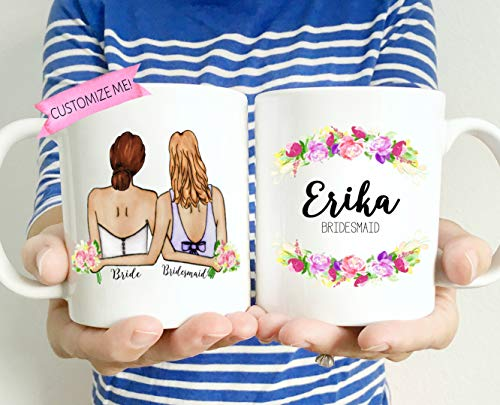 ungfern-Hochzeits-Becher Brautjungfern-Kaffeetasse MOH Becher Personifizierte Brautjungfern-billige Brautjungfern-Geschenk-Brautjungfern-Becher-Hochzeits-Becher ()