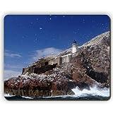 Qualitäts-Mausunterlage, Leuchtturm-Schottland-Seemöwen-Küsten-Nordberwick-Felsen, Spiel-Büro Mousepad