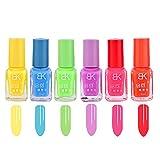 6 PCS UV Süßigkeit fluoreszierende Neon leuchtende Gel Nagellack für Festival Halloween Nachtclub Party Makeup