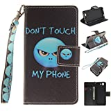 Nancen Sony Xperia Z3 Compact / Z3 Mini (4,6 Zoll) Handytasche/Handyhülle. Flip Etui Wallet Case in Bookstyle - Premium PU Lederhülle Hülle Cover Mit Lanyard/Strap, Standfunktion