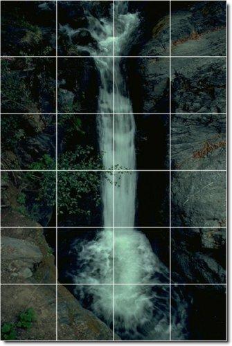 CUSTOM DE FOTOS DE CASCADAS AZULEJO MURAL 1  32X 48CM CON (24) 8X 8AZULEJOS DE CERAMICA