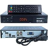 HD Sat Receiver Echosat 20500 FTA Digitaler Satelliten-Receiver (HDTV, DVB-S /DVB-S2, HDMI,AV, 2x USB 2.0, Full HD 1080p,Digital Audio Out) [vorprogrammiert für Astra Hotbird Türksat ] inkl. HDMI Kabel – schwarz