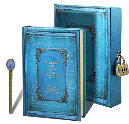 otebook Notizblock Journal Reisetagebuch Hardcover Tagebuch Travel Diary Sketchbuch in einer schönen Box mit Nummernschloss für Reise und Aufschreibung ()