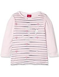 s.Oliver Baby-Mädchen Langarmshirt T-Shirt Langarm, Rosa (Rosy Melange 41W0), 80