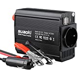 Suaoki 300W Car Power Inverter 12V to 230V with 2USB Ports & CIG LIGHTER PLUG EURO Socket Car Power Inverter 300W with 1AC Outlet & Dual 2.1A USB Ports for Laptop, Tablet, Smartphone and other Appliances and Electronic Devices.