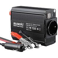 SUAOKI KFZ 300W Wechselrichter 12V auf 230V mit 2 USB Anschlüsse und Zigarettenanzünder Stecker, Eurosteckdose Power Inverter für Laptop, Tablet, Smartphone und andere Haushaltsgeräte und elektronische Geräte