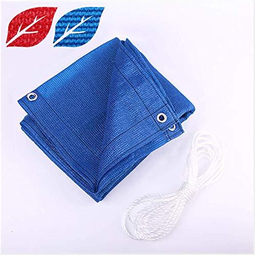JYQcatd Toldo Vela de Sombra, HDPE Duradero y Resistente a la Rotura Densidad protección Rayos UV para Patio Exteriores Jardín,Blue,4x4m