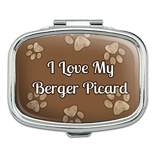 Price comparison product image Rectangle Pill Case Trinket Gift Box I Love Heart My A-B - Berger Picard