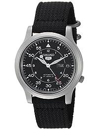 Seiko SNK809 - Reloj de pulsera para hombre, negro / negro