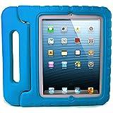 I Butterfiy Funda de Goma Protectora Soporte Antichoque Forro Infantil Funda protectora para Apple iPad 2 / iPad 3 / iPad 4 (Apple iPad 2/3/4, azul)