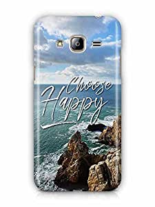 YuBingo Choose Happy Designer Mobile Case Back Cover for Samsung Galaxy J3 2016