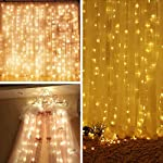Battery Operated 300 LED Curtain String Lights, 9.8 X 9.8ft Starry Fairy Decorative String Lights For Wedding, Bedroom...