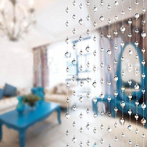 Candora 1metros Claro de cortina de cuentas de cristal acrílico Div