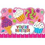 Einladungen - Candy Shop, mit Umschlag, 16cm x 11cm, Einladungskarten