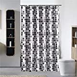 180X180Cm: Toogoo Black+White+Gray Plaid Bathtub Bathroom Fabric Shower Curtain Waterproof Mildewpr Amazon Rs. 2876.00