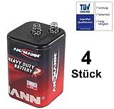Blockbatterie Trockenbatterie Batterie Typ 4R25 Campingbatterie 6Volt 9Ah Baustellenbatterie für Handlampe Baustellenlampe Campingleuchte Blinkleuchte Warnlampe (4)